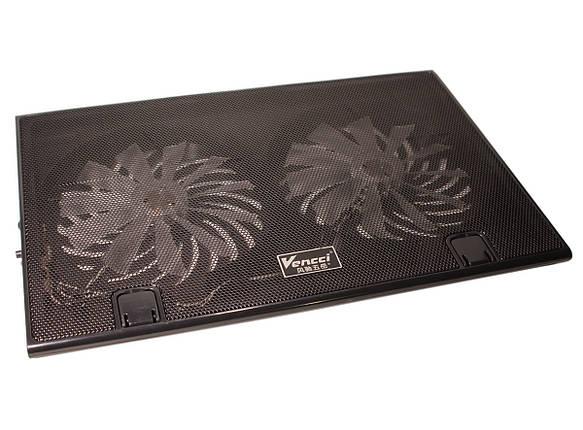"""Подставка для ноутбука до 17"""" Cool Pad Vencci DCX-006, Black с подсветкой, фото 2"""