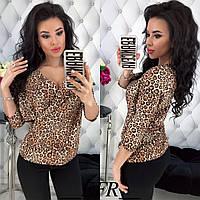 Женская блузка блуза легкая укороченный рукав супер софт размер:с,м,л, фото 1