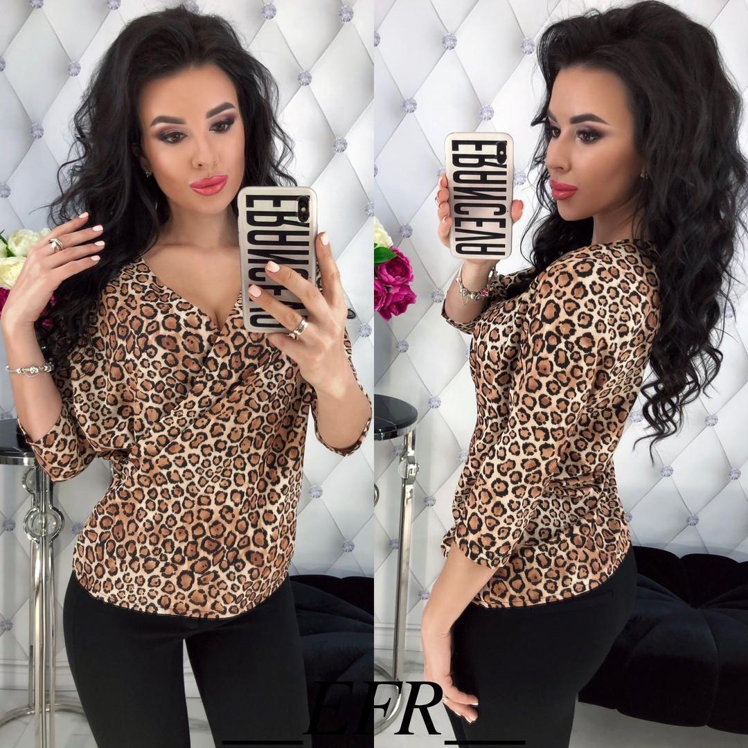 Женская блузка блуза легкая укороченный рукав супер софт размер:с,м,л