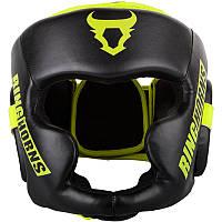 Боксерский шлем Ringhorns Charger Black/Neo Yellow L