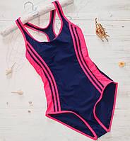 Спортивный купальник сине-розовый, фото 1