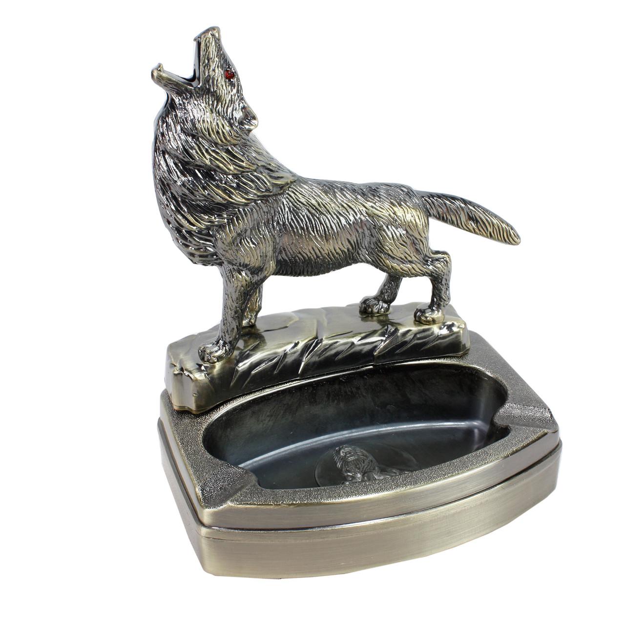 Зажигалка подарочная с пепельницей Волк