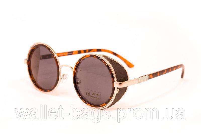 07c8c1162eee Женские круглые очки Коричневые (9011-2)