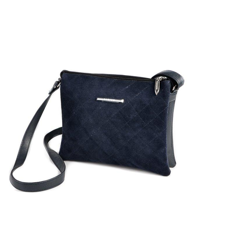 Женская сумочка через плечо М105-39/замш
