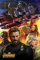 "Постер / Плакат ""Мстители: Война Бесконечности (Капитан Америка) / Avengers: Infinity War (Captain America)"""