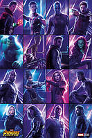 "Постер / Плакат ""Мстители: Война Бесконечности (Герои) / Avengers: Infinity War (Heroes)"""