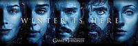 """Постер / Плакат """"Игра Престолов (Зима Близко) / Game Of Thrones (Winter Is Here)"""""""