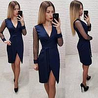 Платья женское! Цвет: т.синий