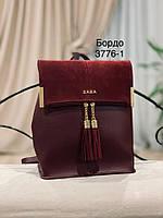Женский рюкзак,кож.зам+нат.замша, фото 2