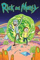"""Постер / Плакат """"Рик и Морти (Портал) / Rick and Morty (Portal)"""""""