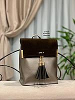 Женский рюкзак,кож.зам+нат.замша, фото 5