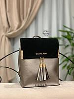 Женский рюкзак,кож.зам+нат.замша, фото 10