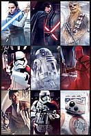 "Постер / Плакат ""Звёздные Войны: Последние Джедаи (Персонажи) / Star Wars The Last Jedi (Characters)"""