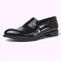 Туфли лаковые классические кожаные женская обувь Puro Low Black Lack by Rosso Avangard, фото 1