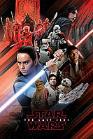 "Постер / Плакат ""Звёздные Войны: Последние Джедаи (Красный Монтаж) / Star Wars: Episode VIII - The Last Jedi (Red Montage) """