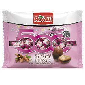 Шоколадні яйця з мигдальним праліне Rovelli Ovetti, 500 гр.
