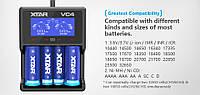 Зарядное устройство для Li-Ion  аккумуляторов XTAR VC4