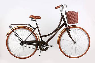 Міський велосипед жіночий з кошиком ARDIS Verona 28 (коричневий), Дорожній жіночий велосипед (Ардіс)
