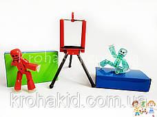 Набір фігурок для анімаційного творчості StikBot з анімаційною студією (сценою) і штативом для зйомки JM-03, фото 3