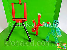 Набір фігурок для анімаційного творчості StikBot з анімаційною студією (сценою) і штативом для зйомки JM-03, фото 2