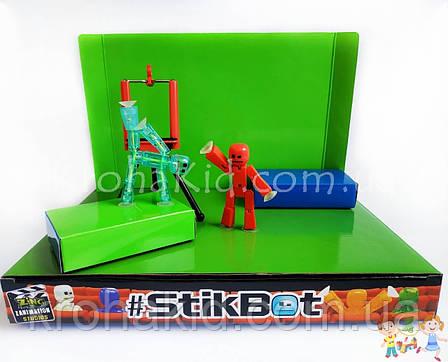 Набор фигурок для анимационного творчества StikBot с анимационной студией (сценой) и штативом для съёмки JM-03, фото 2