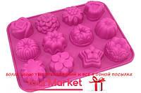 VC-1472, Форма силиконовая для выпечки печенья Vincent 12 яч 28,5х16,5х3,5 см