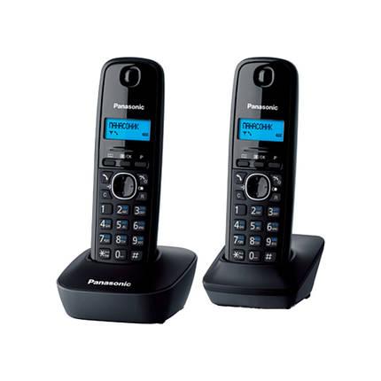 Радиотелефон Panasonic KX-TG1612UAH (черный/серый) + доп. трубка / АОН+ Caller ID, фото 2
