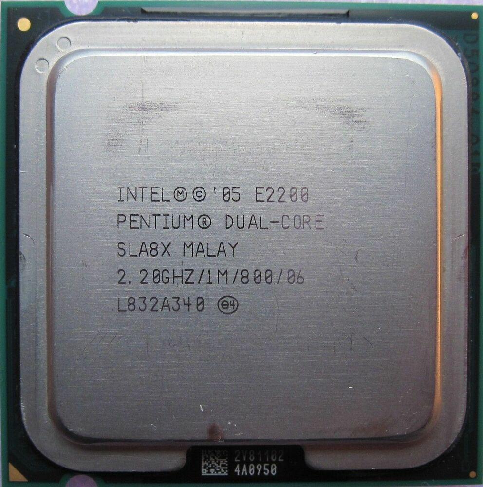 Процессор Intel Pentium Dual-Core E2200 2.20GHz/1M/800 (SLA8X) s775, tray