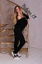 Костюм вязаный свободный брюки и кофта с вырезом, фото 2