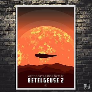 Постер Бетельгейзе 2, звезда-сверхгигант. Elite:Dangerous. Размер 60x43см (A2). Глянцевая бумага