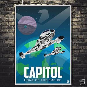 """Постер """"Capitol, home of the Empire"""". Elite:Dangerous. Размер 60x43см (A2). Глянцевая бумага"""
