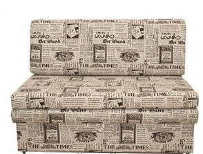 Узкий диван Хит 100 бежевая газета, фото 2