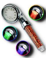 Турмалиновая фильтрующая SPA-насадка для душа с LED-подсветкой