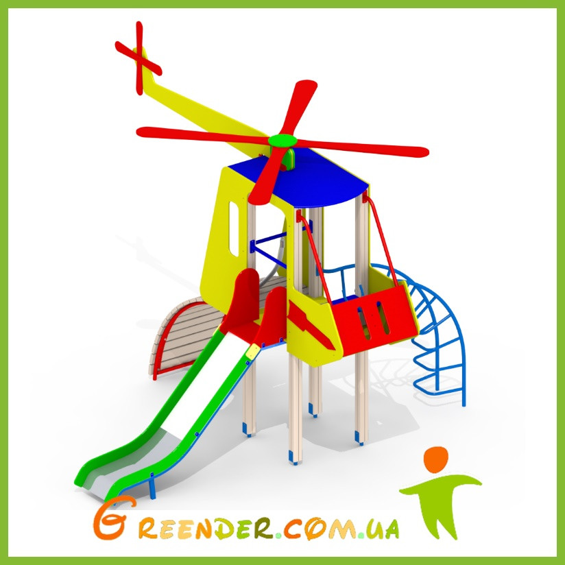 Детская горка Вертолет Mи8 игровой спорт комплекс для игор