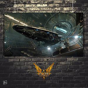 "Постер ""Анаконда"". Elite:Dangerous, космический корабль. Размер 60x34см (A2). Глянцевая бумага"