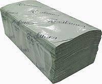 ➤Рушничок листовий (V) сірий 160  шт. 25 шт./уп