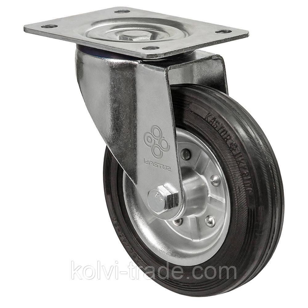 Колеса поворотные с крепежной панелью Диаметр: 80мм. Серия 31 Norma