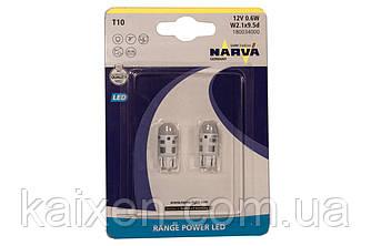 LED ЛАМПА NARVA T10 18003 6000K (2ШТ.)