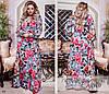 Платье длинное принт софт 50-52,54-56