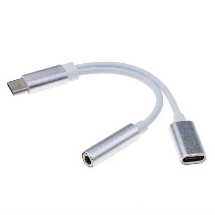 Аудіо конвертер для смартфонів з USB Type-C на USB Type-C і mini jack 3,5 mm