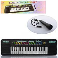 Музыкальный инструмент Синтезатор с микрофоном 32 клавиши, регулятор громкости, детское пианино 6832A 010696