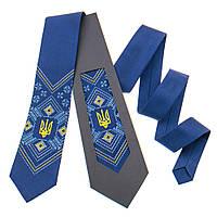 Мужской вышитый галстук с гербом Украины №821