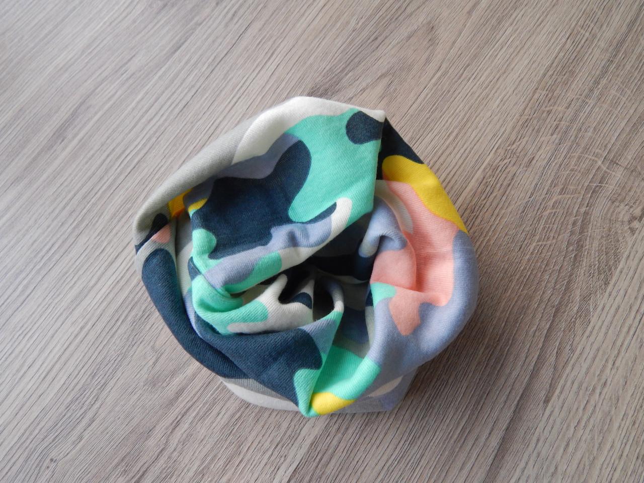 Детские трикотажные снуды, хомуты, шарфы, бафы