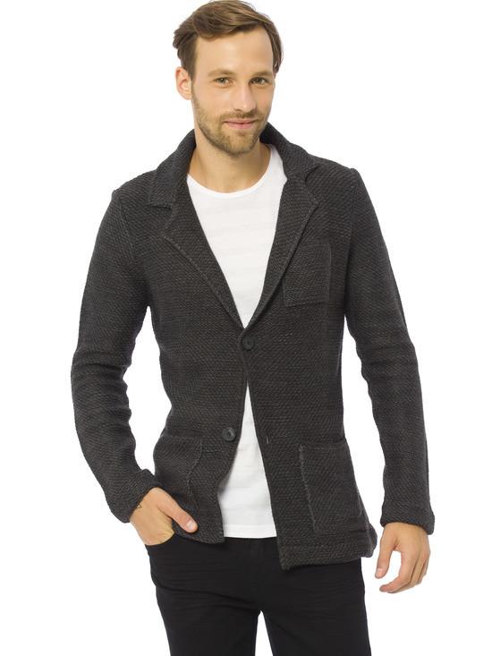 Сірий чоловічий піджак LC Waikiki / ЛЗ Вайкікі з латками і кишенями
