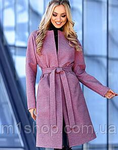 Женское кашемировое пальто с поясом (Джоунjd)