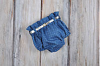 Блумеры, шортики на памперс, голубой джинс , фото 1