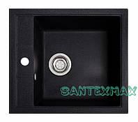 Плита гранітна мийка Solid Бриз чорний 51.5x46 Безкоштовна доставка, фото 1