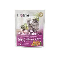 Сухой корм Profine Cat Derma Adult Salmon & Rice 34/18 (с лососем и рисом для длинношерстых котов) 0.3 кг