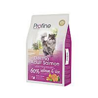 Сухой корм Profine Cat Derma Adult Salmon & Rice 34/18 (с лососем и рисом для длинношерстых котов) 10 кг
