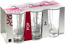 Набор стеклянных стаканов 6 шт 245 мл для сока, воды, молока POP UniGlass